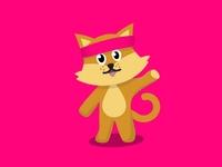 Glucosio Mascot: Glucat (Pink Background)