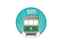 Mozilla Melbourne Sticker