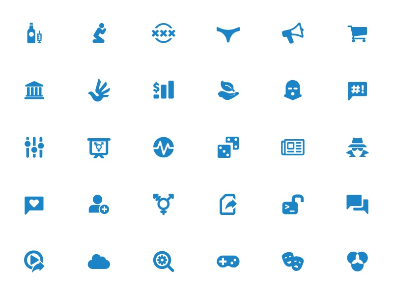 Censorship Category Icons test ooni category icons censorship