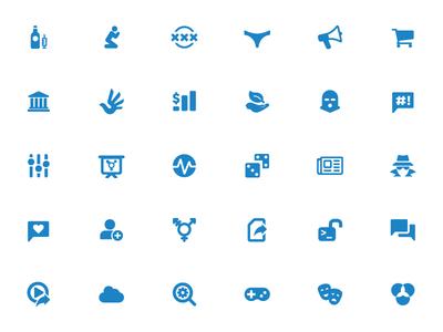 Censorship Category Icons