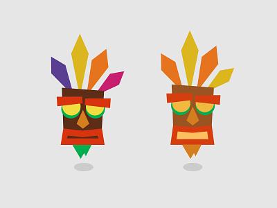 Minimal Aku Aku Illustration mask geometric illustration minimal crash bandicoot aku aku
