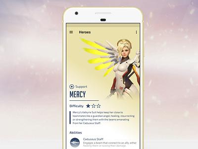 Overwatch Companion App UI Concept - Mercy mobile overwatch uidesign ux