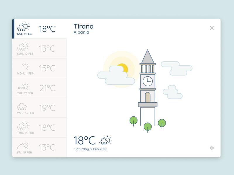 Weather App UI Exploration line art weather ui  ux design