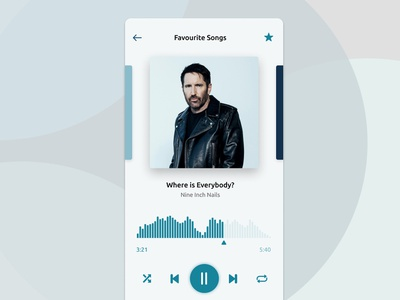 Music Player Interface Exploration interface design music app ui