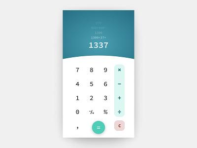 Calculator Concept uidesign concept calculator dailyui 004