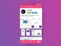 Dribbble Mobile App Profile Page Concept