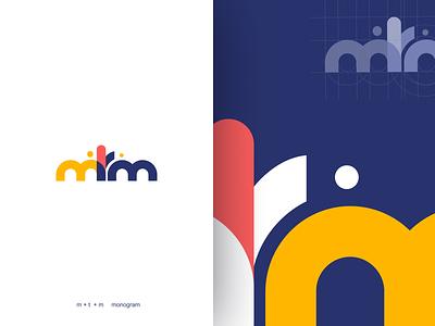 m + t + m monogram concept mtm mtm monogram monogram logo elearning education design uiux web logodesign illustration dribbblers bucket popular shot minimal logo