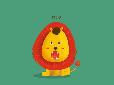1 - LION vector vector illustration cartoon illustraion