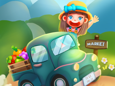 HAPPY FARM photoshop game casual illustrator illustraion