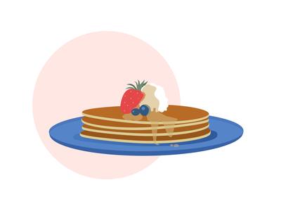 30 days of illustration- Day 22 pancakes yellow flat illustration flatdesign vector september minimal illustration digital art design