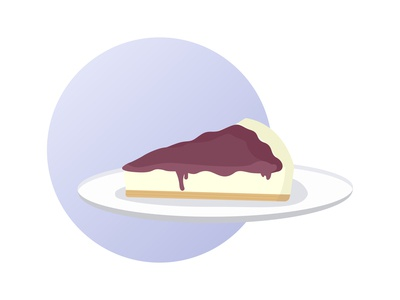 30 days of illustration- Day 25 cheesecake flat illustration flatdesign vector september minimal illustration digital art design