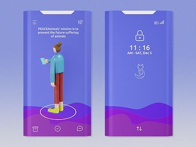 3d illustration, Ui/Ux design
