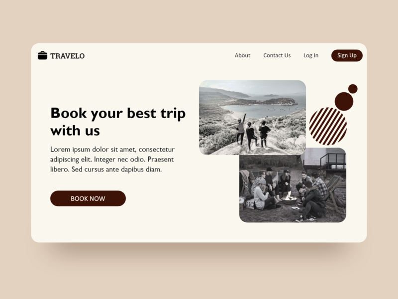 Travelo Home Page soft ui website typography sophisticated web ui monochrome travel agency travel minimal elegant design branding black and white blackandwhite