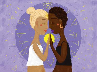 Together illustrator digital art acceptance texture antirascism blacklivesmatter change blackandwhite together digital illustration south africa female illustrator illustration