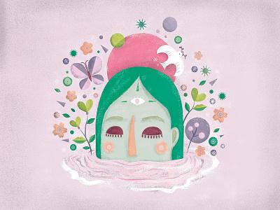 Acceptance art peace illustrator emotive acceptance digital art digital illustration south africa female illustrator illustration