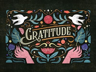 Gratitude illustrator artist south africa digital art typographic digital illustration typogaphy female illustrator illustration