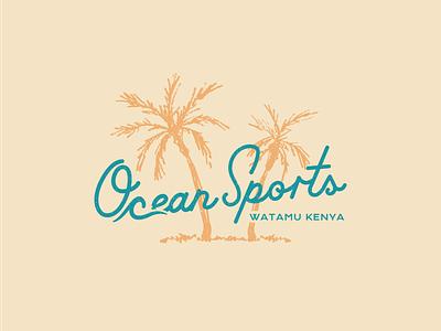 Ocean Sports Logo beach logo design hospitality branding resort design logo