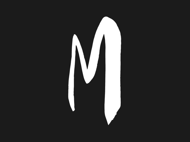 Logo Design for Mirador Music vector brand identity illustration typography calligraphy handlettering hand written black and white logo monochrome monogram logo design logo graphic design