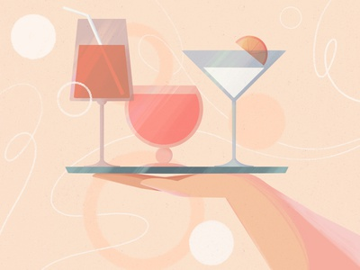 Happy Friday! party wineglass procreate illustration dribble