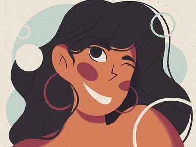 Pretty girl drawing party digital design art ipadpro procreate character illustration dribble