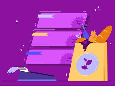 Shopping shopping products vector adobe illustrator flat illustration dribble 2d