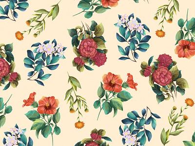 Tea Garden photoshop flowers texture plant packaging tea illustration design procreate dribble