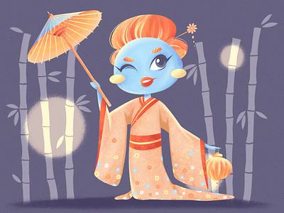 Character design mochi illustration brand textures procreate flat illustration character characterdesign 2d