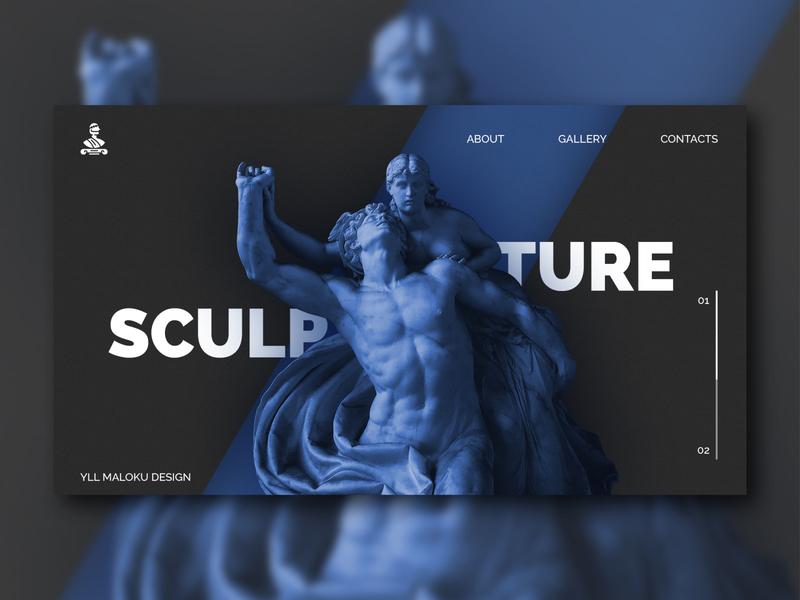 Sculpture blue design blue sculptures sculpting designer font design font uiux web design graphicdesign graphic design sculpture design website design web sculpture website webdesign ui typography design