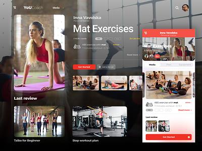 Fitness App concept / test 1 app fitness design ui figma website