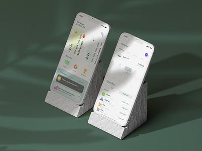 Banking app design button figma ui interface mobile website design pay app