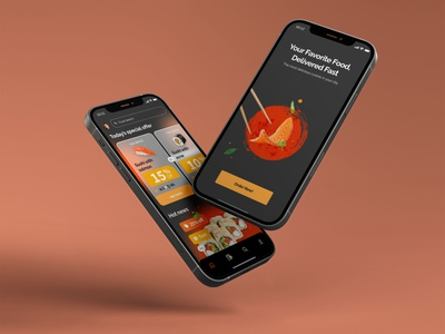 Food delivery app adaptive mobile food delivery wireframe page webflow system pay web interface concept app ui figma design website