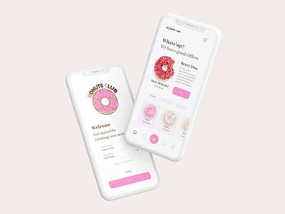 Donuts App design developer system online magazine health food mobile delivery shopping donut app web ux ui figma website design