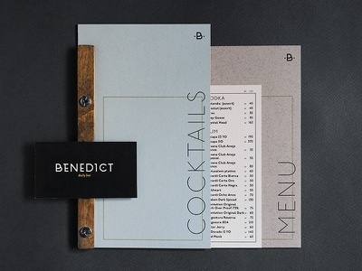 Identity for Benedict Daily Bar menudesign logotype logo identitydesign identity graphicsdesign designlogo designideas design corporateidentity brandingidentity brandidentity