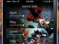 Comic lists app