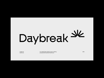DAYBREAK graphic design design brand logo brand identity branding and identity card branding