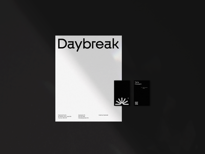 DAYBREAK Application typography icon design brand identity logo branding graphic design brand