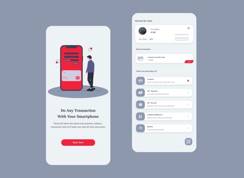 Simple e-Banking ui mobile ui mobile app design mobile app