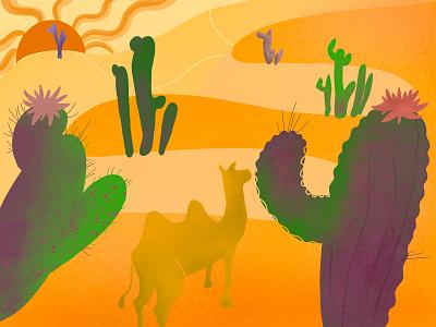 Desert design illustration