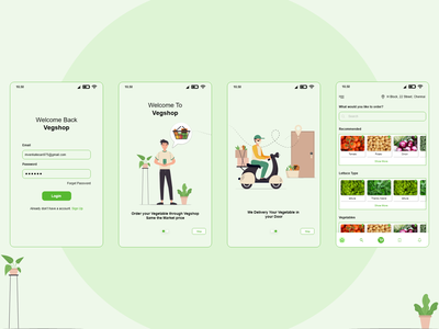 Vegetable Delivery App Concept typography design @ui @iiustration @design