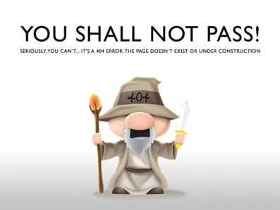 404 error page You Shall Not Pass! error 404 ux ui vector illustration design 404 error page