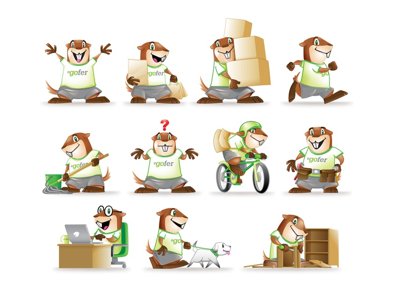 eGofer Mascot Design mascot character mascot mascot design character design vector icon illustration design