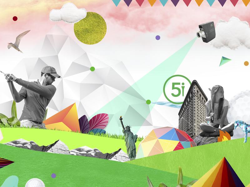 Web design for golf company graphic design web illustration