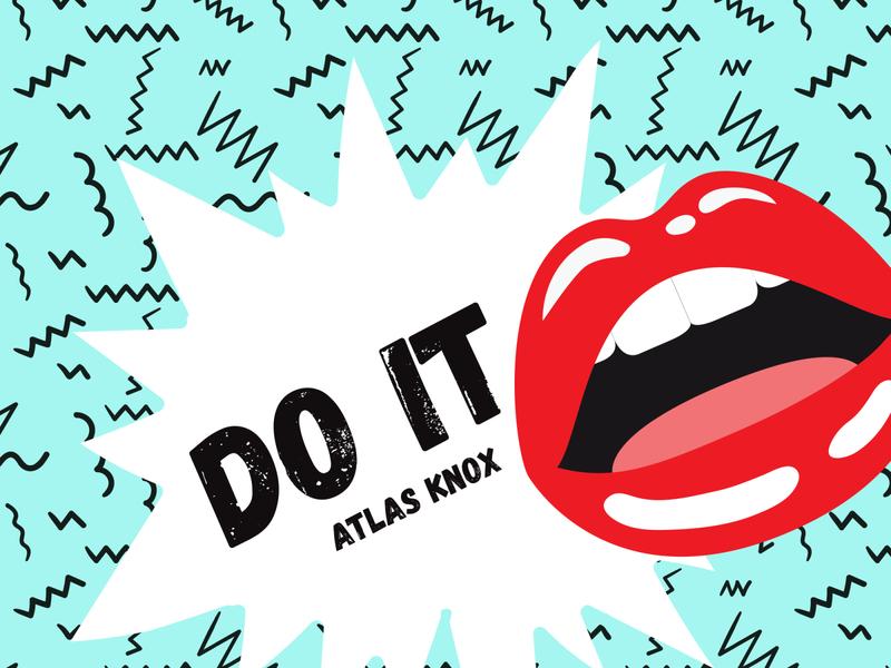 Atlas Knox flat design graphic design music cover art