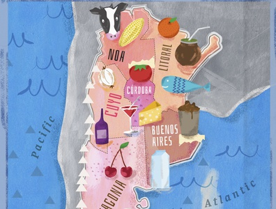 Argentina Map graphic design color maps illustraion