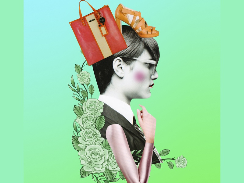 Illustration for Racked Magazine fashion color collage illustration magazine