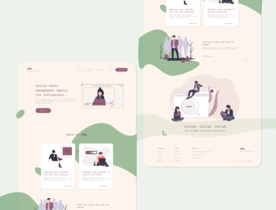 Creative Media Agency Landing Page uiux webdesign web landingpage adobexd