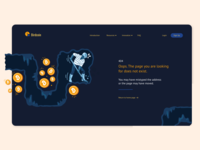 404 Error Page webdesign uiux web bitcoin 404 error 404 adobexd