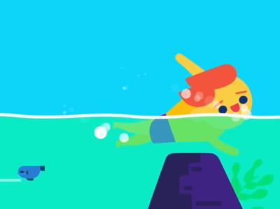 swimming character character fish flat design motion graphics character animation animation after effects illstrator illustraion swimming pool swimming swim