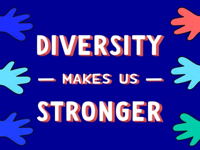 Diversity Makes Us Stronger - Lettering design inclusive inclusion adobe diversity letters graphicdesign lettering