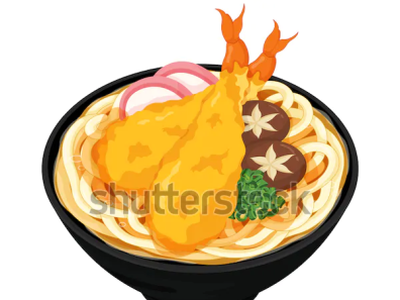 Japanese udon noodle soup illustration vector. (Japanese food) ramen udon noodles draw tempura meal illustration cartoon anime vector japanese food food illustration